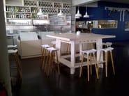 High wooden stool Pilot Bar Stool - Quinze & Milan
