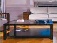 Rectangular glass coffee table with integrated magazine rack EDRA | Glass coffee table - HUGUES CHEVALIER