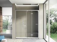 Niche shower cabin with folding door LIKE 06 - IdeaGroup