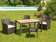 Garden armchair with armrests ALASSIO   Garden armchair - Mediterraneo by GPB
