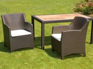 Garden armchair with armrests ALASSIO | Garden armchair - Mediterraneo by GPB