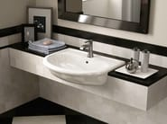 Semi-inset ceramic washbasin FIDIA | Semi-inset washbasin - CERAMICA FLAMINIA