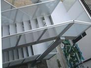 Metal fire escape staircase Fire escape staircase - ALUSCALAE