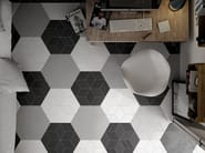 Rhombus White, Dark Grey, Black