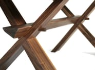 Custom wood and glass table DECIMO | Wood and glass table - L'Ottocento