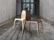 Stackable plywood chair FLOW - Plycollection