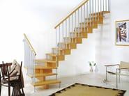 Wooden Open staircase UNIKA 020 - Fontanot Spa