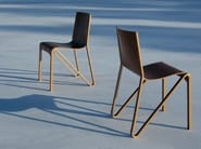 Stackable plywood chair ZESTY - Plycollection
