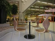 Stackable plywood restaurant chair PYTHON - Plycollection
