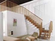 Wooden Open staircase UNIKA Wooden Balusters - Fontanot Spa