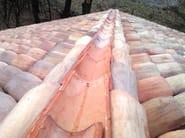 Roman and flat roof clay tile COPPESSA ARTIGIANALE - FORNACE FONTI