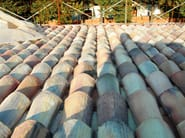 Roman and flat roof clay tile COPPO DA 45 - FORNACE FONTI