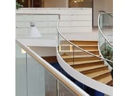 Built-in glass guardrail EASY GLASS - Glassolutions
