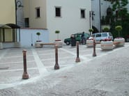 Copper bollard post with base DISSUASORE 33 - Bellitalia