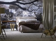 Upholstered fabric double bed Basis 18 + GLORIA-2 - Schramm Werkstätten