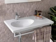 Washbasin with integrated countertop with overflow HOTELS | Washbasin with integrated countertop - NOKEN DESIGN