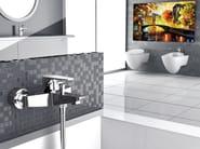 Wall-mounted chrome-plated single handle bathtub mixer CLASS LINE | Chrome-plated bathtub mixer - Remer Rubinetterie