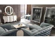 Tufted fabric armchair with armrests TIAGO | Armchair - CorteZari