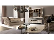 Low round glass coffee table TIAGO | Round coffee table - CorteZari
