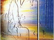 Coloured decorative glass with relief CREA-LITE - Glassolutions