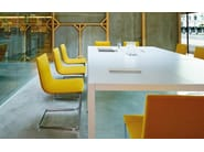Cantilever upholstered chair LINEAL CORPORATE | Chair - Andreu World