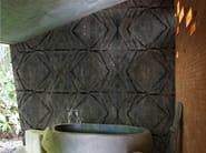 Geometric bathroom wallpaper FOLD - Wall&decò