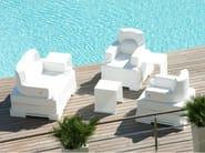 Imitation leather garden armchair TRONA | Garden armchair - Trona