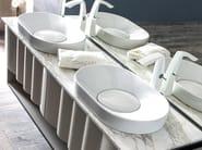 Countertop oval ceramic washbasin LEON | Washbasin - CorteZari