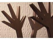 Wooden coat rack TANTI SALUTI - Produzione Privata