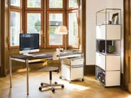 Modular metal office drawer unit with casters with lock USM HALLER PEDESTAL FOR HOME OFFICE | Office drawer unit - USM Modular Furniture