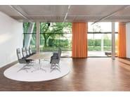 Rectangular aluminium and wood meeting table FINA CONFERENCE | Rectangular meeting table - Brunner