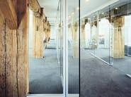 Sliding glass office partition H130 - König + Neurath