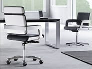 Height-adjustable executive chair with 5-spoke base CHARTA | Executive chair - König + Neurath