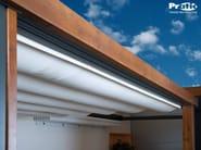 Wooden pergola with sliding cover TECNIC WOOD PLUS - PRATIC F.lli ORIOLI