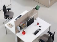 Fabric workstation screen desktop partition INSIDE 25 | Workstation screen desktop partition - König + Neurath