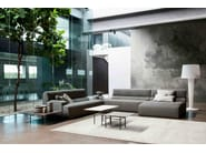 Sectional sofa with chaise longue RIOS | Sofa with chaise longue - Bonaldo