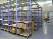 Interlocking modular metal shelving Shelveing system - Castellani.it