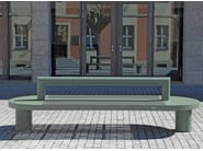 Stainless steel and PET Bench with back COMFONY 90 | Bench with back - BENKERT BÄNKE