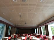 Sound absorbing MDF ceiling tiles WOOD SHADE HIDE-IN - ITP