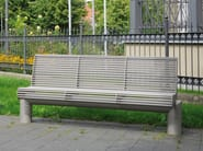 Stainless steel Bench with back SIARDO 600 R | Bench with back - BENKERT BÄNKE