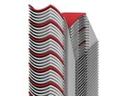 Sled base fabric training chair CURVY | Fabric chair - Casala