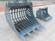 Accessories for construction site machinery GRILLED BUCKET - C.M. di Carollo