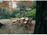 Wooden Bench with back ARMONIA | Bench - Legnolandia