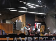 Direct light fluorescent aluminium pendant lamp SLIM HORIZONTAL - VERTIGO BIRD