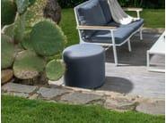 Fabric garden pouf TIMBER | Garden pouf - Talenti