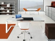 Rectangular wooden office desk ARCHIMEDE | Rectangular office desk - Castellani.it