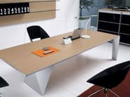 Rectangular wooden meeting table ERACLE   Meeting table - Castellani.it