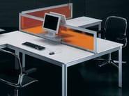 L-shaped wooden office desk ZEFIRO SYS | L-shaped office desk - Castellani.it