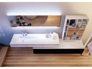 Wall-mounted Corian® washbasin with drawers PLANAR SYSTEM PORTOFINO - MOMA Design by Archiplast