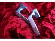 Door handle on rose satin chrome CHIC | Door handle - Frascio